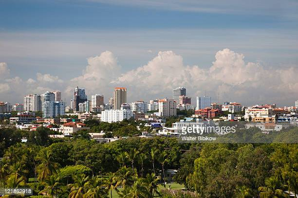 high angle view of modern santo domingo, dominican republic - paisajes de republica dominicana fotografías e imágenes de stock
