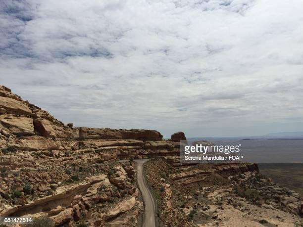 High angle view of moki dugway
