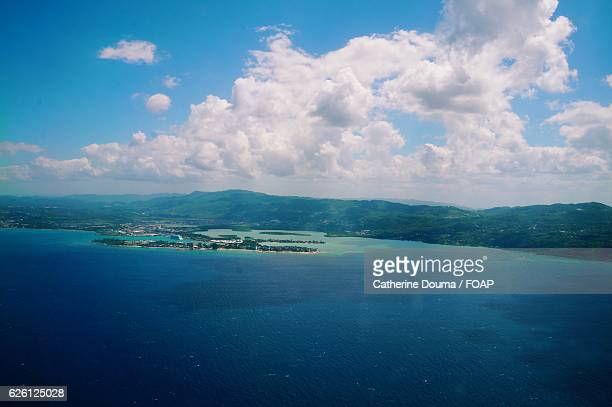 high angle view of montego bay - montego bay stock pictures, royalty-free photos & images