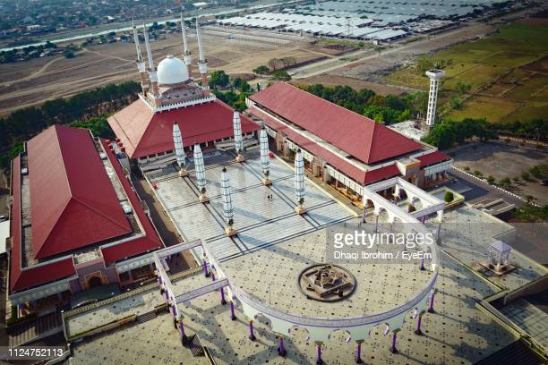 High Angle View Of Mosque In City