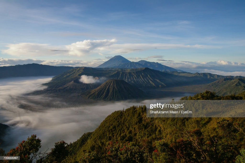 High Angle View Of Mountains : Stock Photo