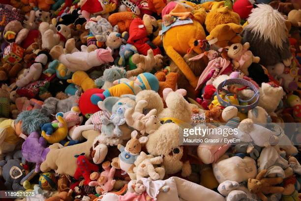 high angle view of multi colored toys for sale in store - eyeem collection stock pictures, royalty-free photos & images