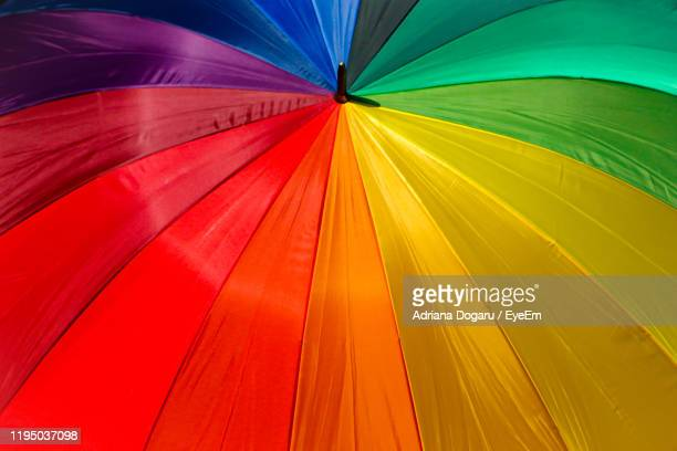 high angle view of multi colored umbrella - choice stock pictures, royalty-free photos & images