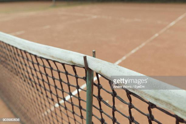 high angle view of net at playing field - andre wilms eyeem stock-fotos und bilder