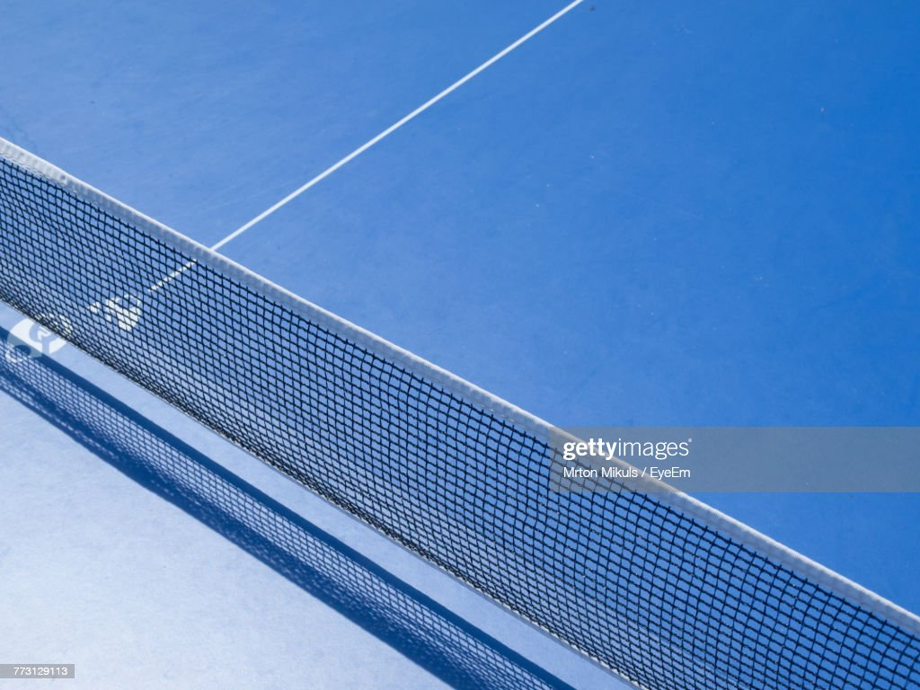 High Angle View Of Net On Court : Photo