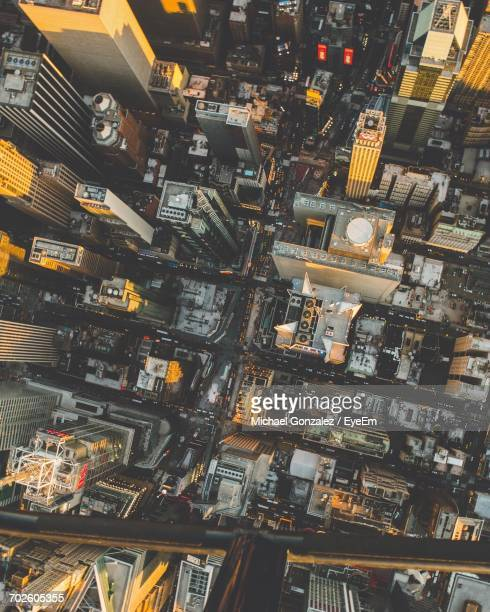 high angle view of new york city - the americas stock pictures, royalty-free photos & images
