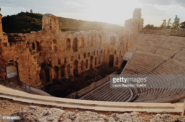 High Angle View Of Odeon Of Herodes Atticus