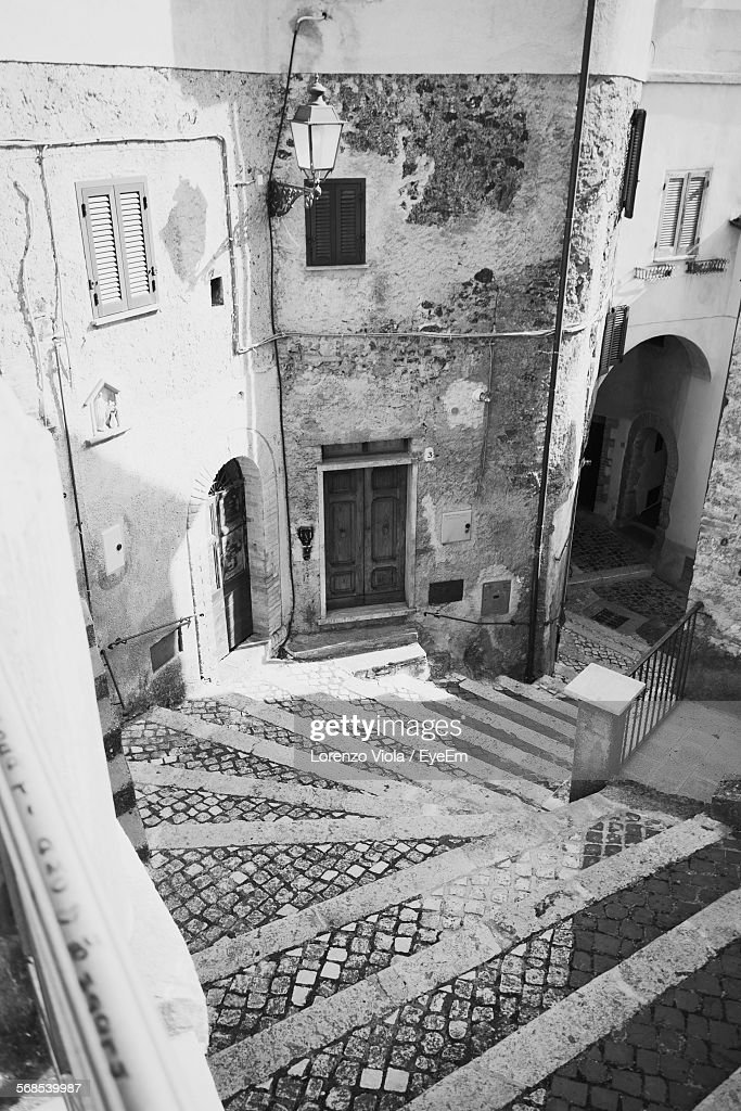 High Angle View Of Old Building : Stock Photo