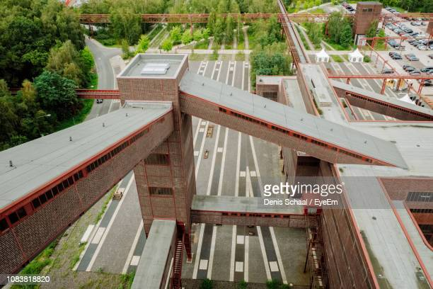 high angle view of old buildings - ruhr stock pictures, royalty-free photos & images