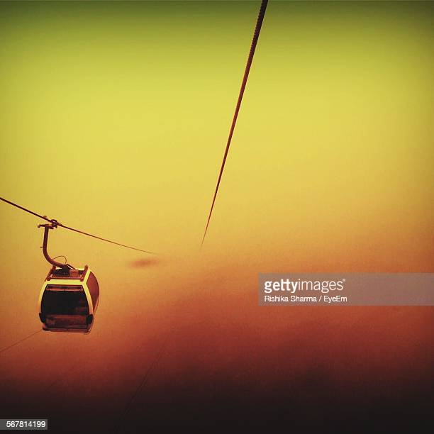 High Angle View Of Overhead Cable Car Against Sky