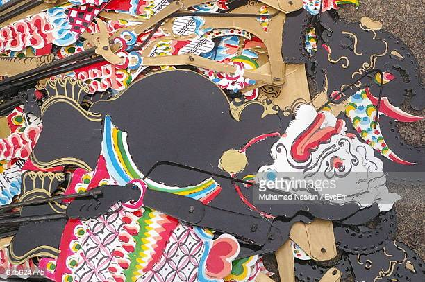 high angle view of paper art products - muhamad nasrun stock pictures, royalty-free photos & images