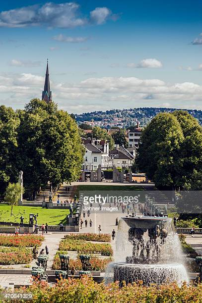 High angle view of park in Oslo