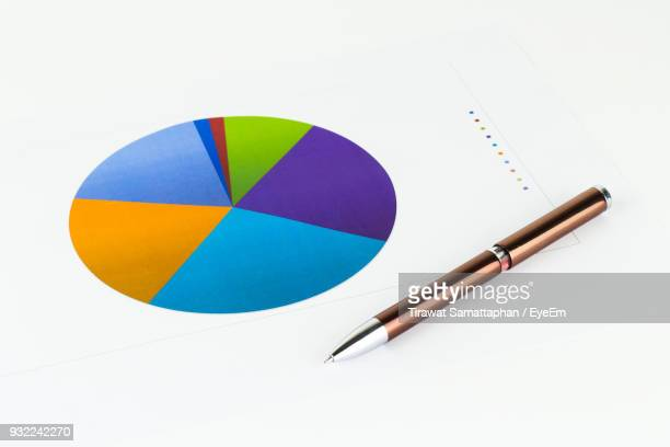 High Angle View Of Pen On Documents