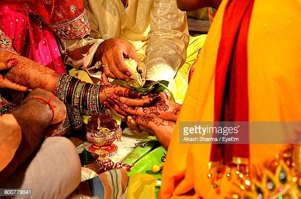 High Angle View Of People At Wedding Ceremony