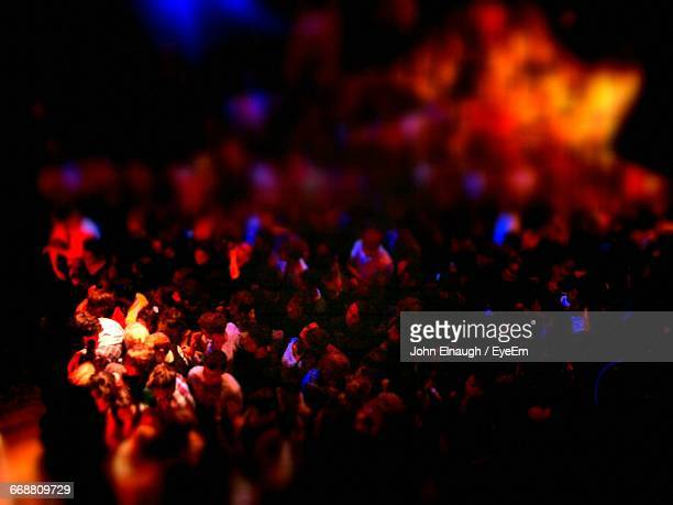 high angle view of people dancing in nightclub - kingston upon thames stock pictures, royalty-free photos & images