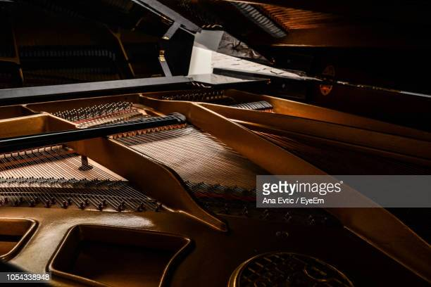 high angle view of piano keys - musical instrument string stock pictures, royalty-free photos & images