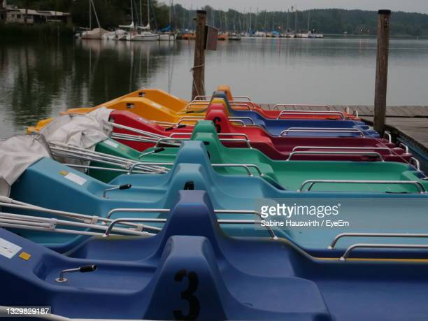 high angle view of pier over lake - sabine hauswirth stock pictures, royalty-free photos & images
