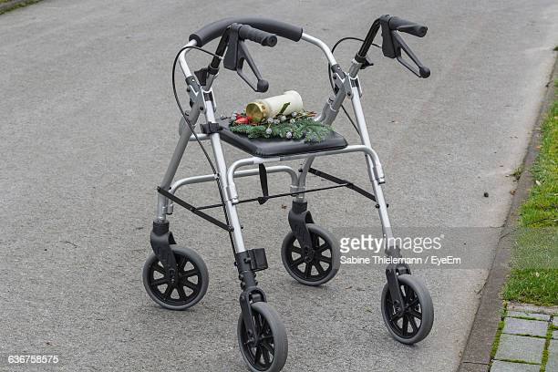 High Angle View Of Plants On Mobility Walker