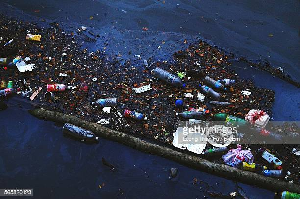 High Angle View Of Polluted River