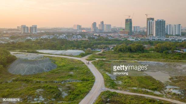 High angle view of Puchong Construction Area.