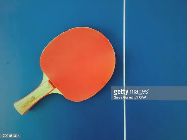 High angle view of racket