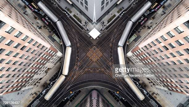 high angle view of railroad tracks - vancouver canada stock pictures, royalty-free photos & images