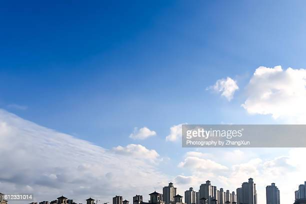 High angle view of real estate buildings in Shenyang Liaoning China at day time.