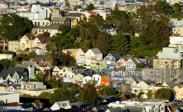 High angle view of Residential buildings in San Francisco