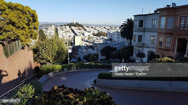 high angle view of residential district - casey nolan stock pictures, royalty-free photos & images