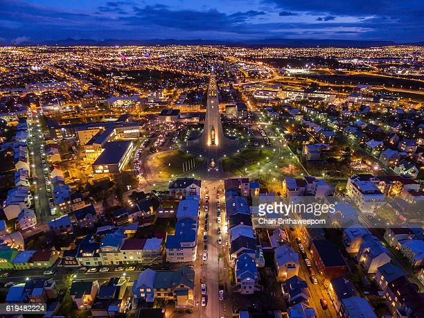 High Angle View Of Reykjavik , Iceland