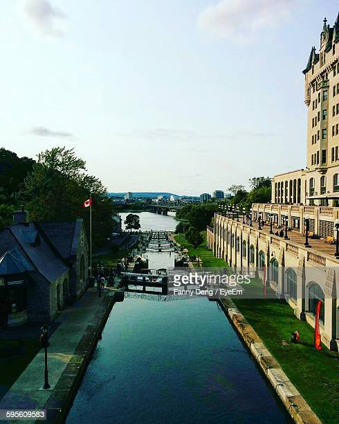 High Angle View Of Rideau Canal