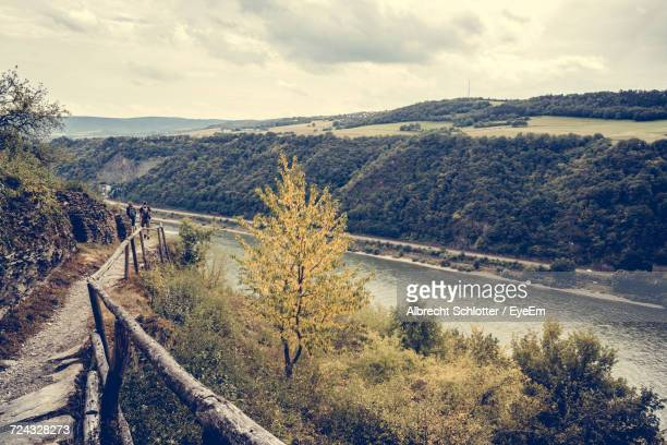 high angle view of road - albrecht schlotter stock photos and pictures