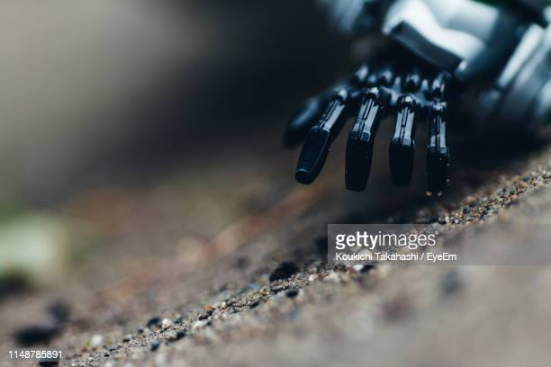 High Angle View Of Robot Hand