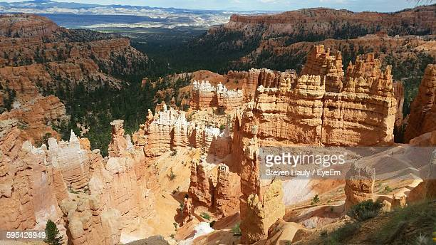 High Angle View Of Rock Formations At Bryce Canyon National Park