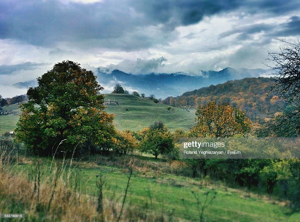 High Angle View Of Rolling Landscape : Foto stock