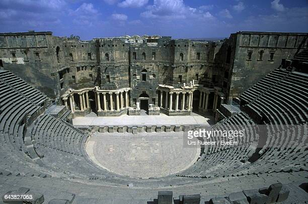 High Angle View Of Roman Theatre At Bosra