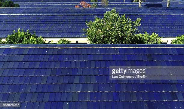 High Angle View Of Roof Tiles Of Building