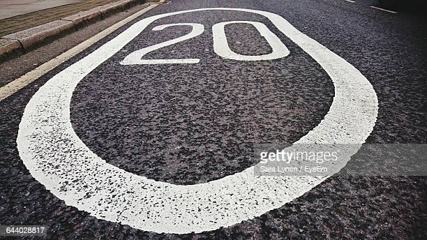 high angle view of rough road - number 20 stock pictures, royalty-free photos & images