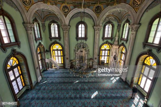 high angle view of salepcioglu mosque interior ,izmir. - emreturanphoto stock pictures, royalty-free photos & images