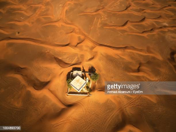 high angle view of sand dune - emirate of sharjah stock pictures, royalty-free photos & images