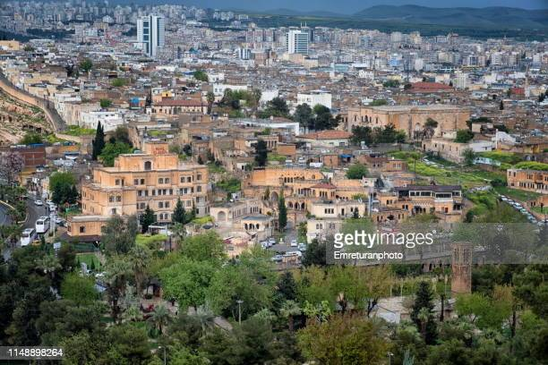 high angle view of saniurfa city on an overcast day. - emreturanphoto stock pictures, royalty-free photos & images