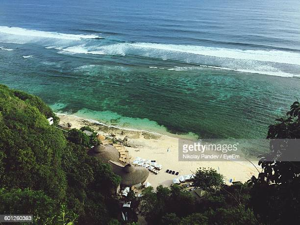 High Angle View Of Scenic Beach