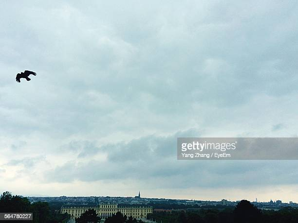 High Angle View Of Schonbrunn Palace Against Cloudy Sky