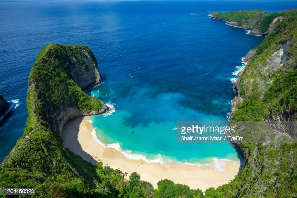 high angle view of sea against sky - shaifulzamri stock pictures, royalty-free photos & images