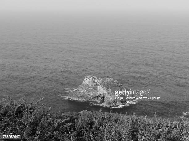 high angle view of sea against sky - llorente stock pictures, royalty-free photos & images