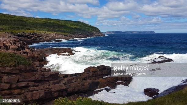 high angle view of sea against sky - sibley stock photos and pictures