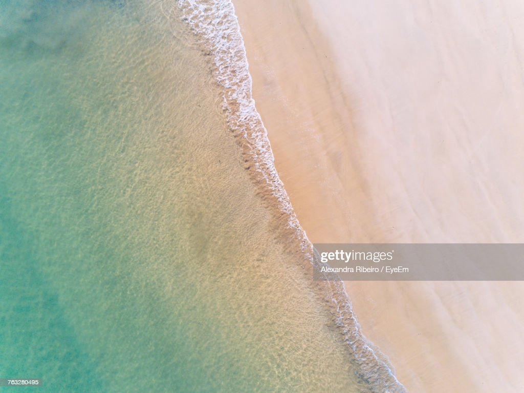 High Angle View Of Sea And Beach : Foto de stock
