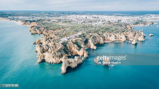 high angle view of sea - faro stock pictures, royalty-free photos & images