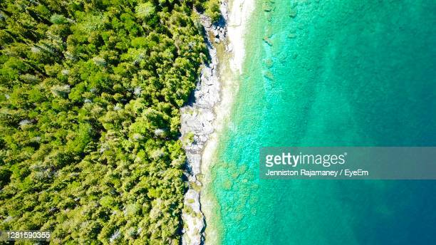 high angle view of sea - ontario canada stock pictures, royalty-free photos & images