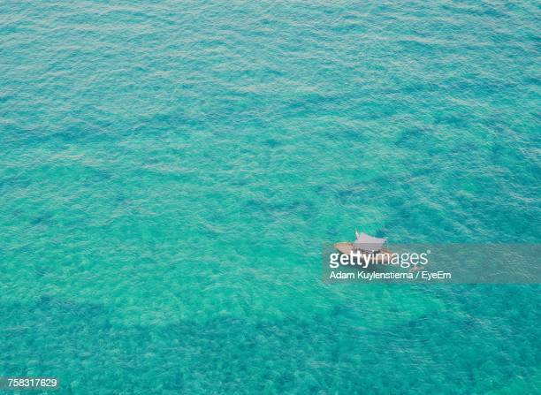 High Angle View Of Sea